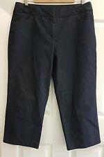 Ladies Size 14 Dark Blue Lightweight Denim 3/4 jeans - SuzanneGrae