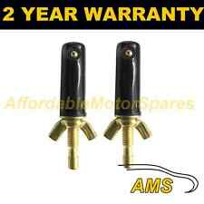 PAIR UNIVERSAL WINDSCREEN WASHER SINGLE JET STRAIGHT INLET WINGNUT FITTING WWY16