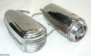 2 Vintage Bicycle Horns torpedo shaped bike sirens