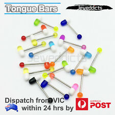 1pc Tongue Bars Piercing Ring Capsule Acrylic Pill Body Jewellery