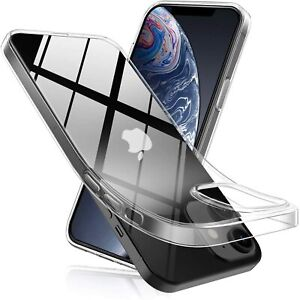 Hülle für iPhone 12 MAX MINI PRO Transparent Klare Hülle Ultra Slim Dünn Bumper
