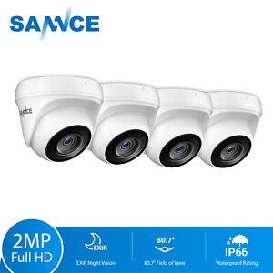 SANNCE 4x 3000TVL White Dome Security Camera CCTV Surveillance IR Night Vision