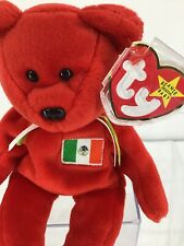 1999 Ty Original Beanie Babies OSITO Mexican Red Bear w/Tags (8 inch)