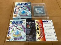 GameBoy Pocket Monster Pokemon Silver nintendo with BOX and Manual