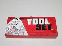 VINTAGE TOY SKIL-CRAFT HANDY ANDY TOOL SET METAL TOOL BOX *EMPTY*