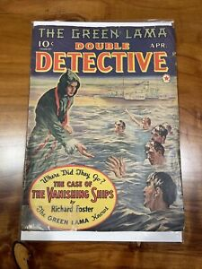 DOUBLE DETECTIVE GREEN LAMA 1940 - CASE OF THE VANISHING SHIPS - Richard Foster