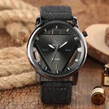 Casual Men's Triangle Dial Military Army Watch Quartz Watches Nylon Strap Band