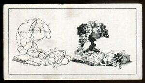 Tobacco Card, B Morris, HOW TO SKETCH, 1929, Still Life Group, #2