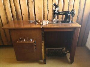 Vintage mechanische Schranknähmaschine PFAFF 30
