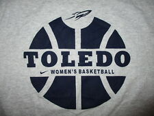 UNIVERSITY OF TOLEDO ROCKETS WOMEN'S BASKETBALL T SHIRT Gray Tee Adult SMALL