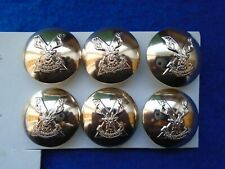 NEW High Quality Gold Coloured Anodized High Sheen plain Metal Buttons LOT