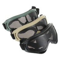 Outdoor Military Airsoft Goggles Tactical Shock Resistance Sports Metal Mesh Net