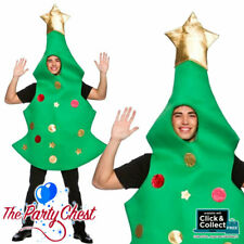 ADULT GIANT CHRISTMAS TREE COSTUME Funny Christmas Fancy Dress Outfit 4617