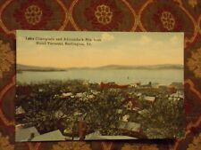 Vintage Postcard Lake Champlain And Adirondack Mts., Burlington, Vt.