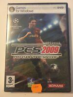 😍 jeu video pc dvd cd rom neuf blister fr pro evolution soccer 2009 pes