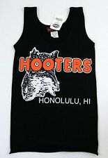 HONOLULU, HI HOOTERS GIRL X-SMALL XS AUTENTIC LYCRA BLACK UNIFORM TANK TOP