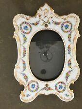 Dresden Made in Germany Floral Pattern Hand Painted Picture Frame