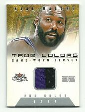 Karl Malone 2001-02 Fleer Force True Colors 2nd Color Game-Worn Jersey 143/200
