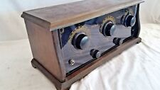 """Antique c1926 Polle Royal Five Tube TRF Battery Table Radio """"Gem Of The Air"""""""
