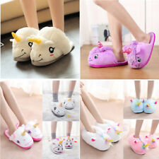 Cartoon Ram's Horn Slippers Unicorn Slippers Winter Warm Cotton Home Shoes KK