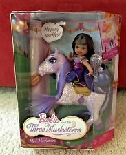 NEW BARBIE AND THE THREE MUSKETEERS MINI MUSKETEERS KELLY PURPLE NRFP