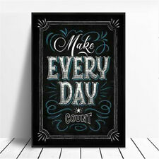 Unframed English Inspirational Quote Canvas Art Print Poster Home Wall Decor