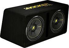 "Kicker 44Dcwc122 Car 12"" Dual Preloaded Compc Subwoofers Enclosure Boxed Subs"