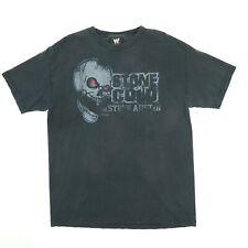 Vtg Stone Cold Steve Austin T-Shirt MEDIUM Faded Black Distress WWE Skull Rare