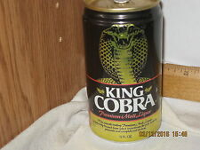 King Cobra Premium Malt Liquor, St. Louis, MO 12 oz beer can empty