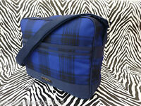 FRED PERRY Shoulder Bag Men's CHECK Record Navy Messenger Body Bags BNWT RRP£55