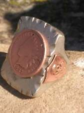 Vintage Mexican BIKER RING (Ruby Ramirez) Souvenir Mexico Ring Warrior Chief