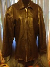 WilsonLeather M.Julian BlackLeather Jacket ZipOut Thinsulate Insulated Lined SzM