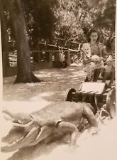 Vintage Black and White Photograph Booneville, AR Alligator Amisement Ride