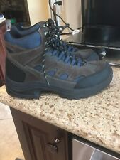 Men's Ozark Trail Brown/Black Leather Waterproof Hiking Boots Size 11 Trail Camp