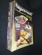 18 RANDOM SELECTION OF MARSHALL CAVENDISH'S SUPERCOOK PARTWORK COOKERY MAGS
