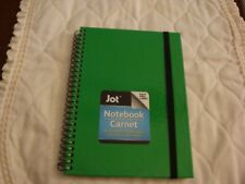 NEW Green Jot Notebook 80 Ruled Sheets Hard Cover 5 x 7+ chalkboard label