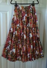Peasant Boho Tiered Skirt Sz S-L  NEW Southwestern Pattern *Square Dancing!*