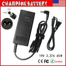 Laptop Car Charger for TOSHIBA 19V 2.37A 45W Power Supply Cord DC Adapter