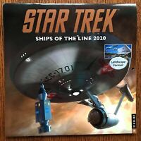 Signed Star Trek Ships of the Line 2020 Wall Calendar