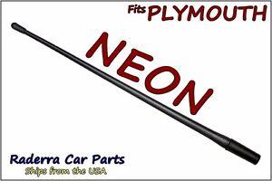 "FITS: 1999-2001 Plymouth Neon - 13"" SHORT Custom Flexible Rubber Antenna Mast"