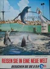 USA MARINELAND FLORIDA 1966 Vintage Travel Tourism poster 20x28.5