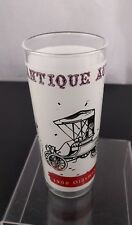 VTG Anchor Hocking 1900 Oldsmobile Tall Glass Frosted Etched 16oz Car Cocktail