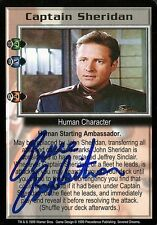 BABYLON 5 CCG Bruce Boxleitner SEVERED DREAMS Captain Sheridan TC AUTOGRAPHED