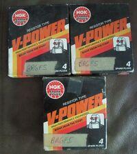 4 X NGK V-Power Resistor OEM High Power Performance Spark Plugs YR5 # 7052 Lot 3