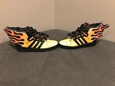 Adidas Jeremy Scott, Flames Hot Rod Wings 2.0, G43713, Size 10, RARE!