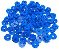 Lego 100 New Blue Plates Round 2 x 2 with Axle Hole Pieces