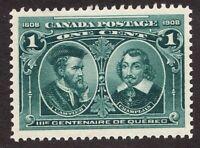 Sc 97 - Canada - 1908 - 1 Cent -  MNH VF GEM -  superfleas - cv$150