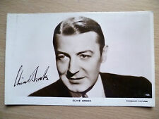 Film Star Real Photo Postcard- CLIVE BROOK +printed Autograph,Paramount Pictures