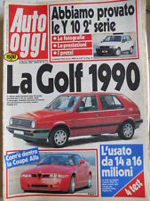 Auto OGGI n°114 1989 Peugeot 405 Turbo 16 Grand Raid - Nuova Golf 1990 [Q202]