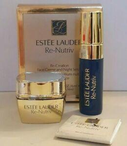 Estee Lauder Re-Nutriv Re-Creation Face Creme - 6ml & Night Serum 4ml - NEW